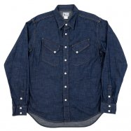 <img class='new_mark_img1' src='https://img.shop-pro.jp/img/new/icons50.gif' style='border:none;display:inline;margin:0px;padding:0px;width:auto;' />WORKERS/ワーカーズ  Western Shirt  8 oz Indigo denim ウエスタンシャツ OW
