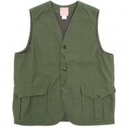 <img class='new_mark_img1' src='https://img.shop-pro.jp/img/new/icons50.gif' style='border:none;display:inline;margin:0px;padding:0px;width:auto;' />WORKERS/ワーカーズ  Cruiser Vest, Reversed Sateen, Reactive dyeing, OD