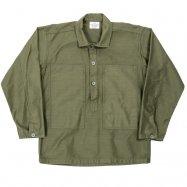 WORKERS/ワーカーズ Pullover Shirt, Ref US ARMY, OD Reversed Sateen