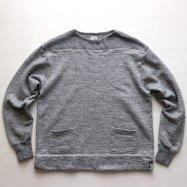 LOOP&WEFT/ループアンドウェフト スラブ杢裏毛50sボートネックスウェットシャツ ヘザーグレー