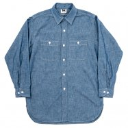 <img class='new_mark_img1' src='https://img.shop-pro.jp/img/new/icons13.gif' style='border:none;display:inline;margin:0px;padding:0px;width:auto;' />WORKERS/ワーカーズ Work Shirt Vintage Fit Blue Chambray