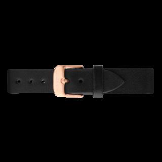 ベルト幅16�専用 ウォッチストラップ/ローズゴールド レザーブラック