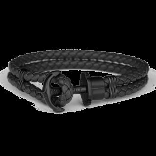 PHREP レザーアンカーブレスレット ブラック/ブラック