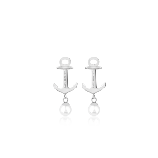 Anchor Pearl ピアス シルバー/パール