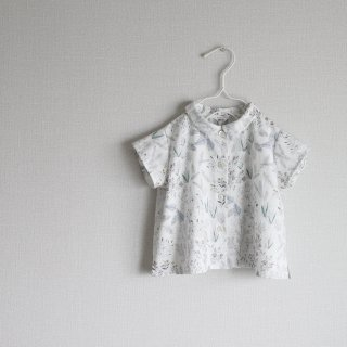 FOREST FLOWER round collar shirt