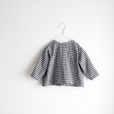 Double gauze collarless shirt