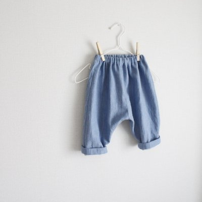 Soft denim easy pants