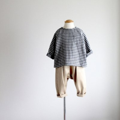 Cotton Chino Cross Tuck Pants