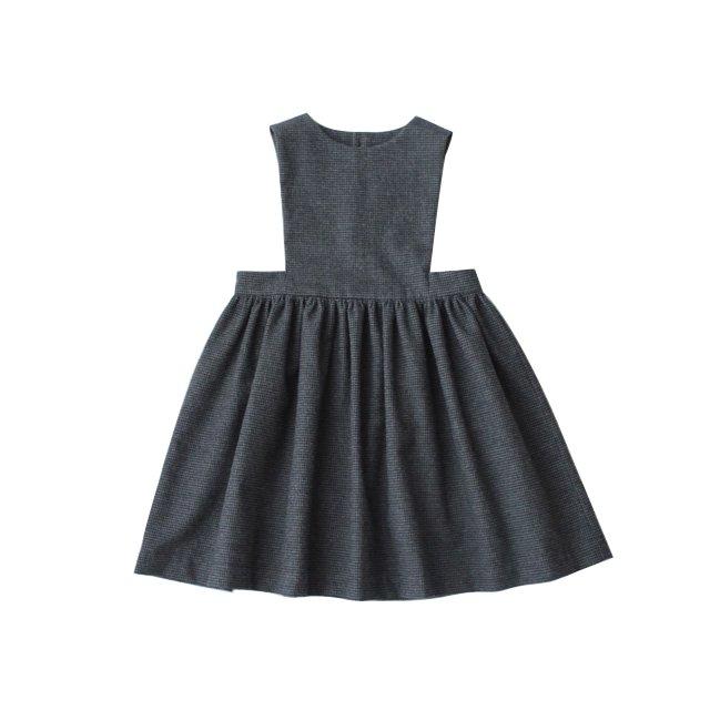 Houndstooth apron dress