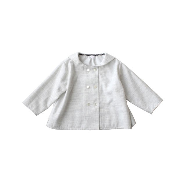 Cotton flannel sailor collar shirt