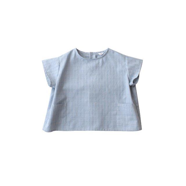 Collarless pocket shirt