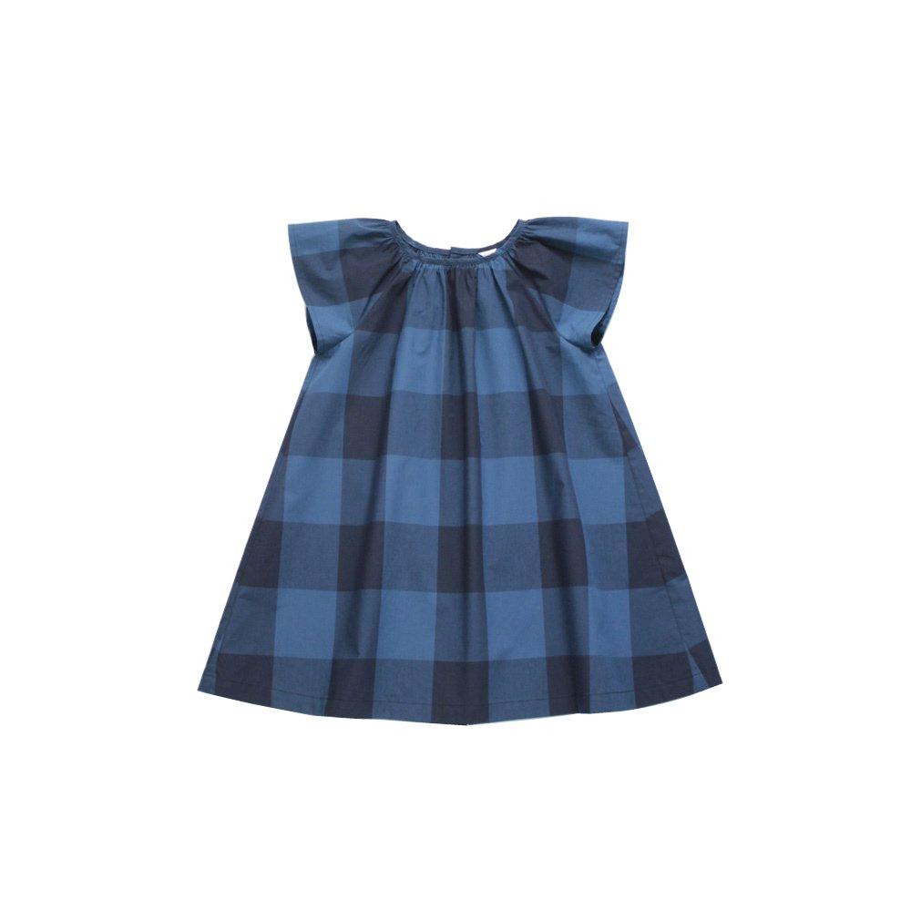 Block check dress (blue)