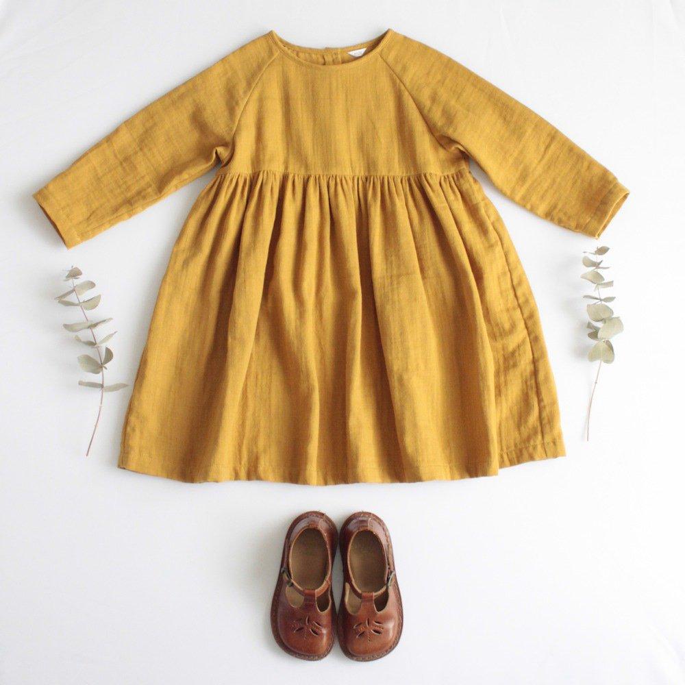Raglan sleeve dress (Double gauze)