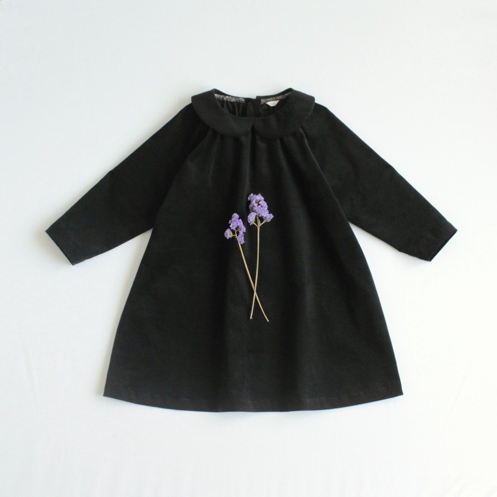 Round collar dress (Corduroy)