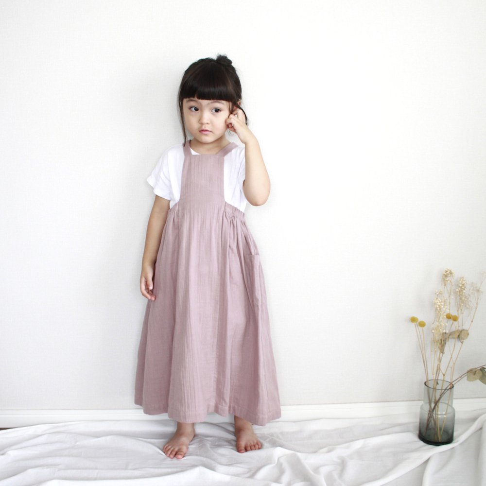 Double gauze apron skirt