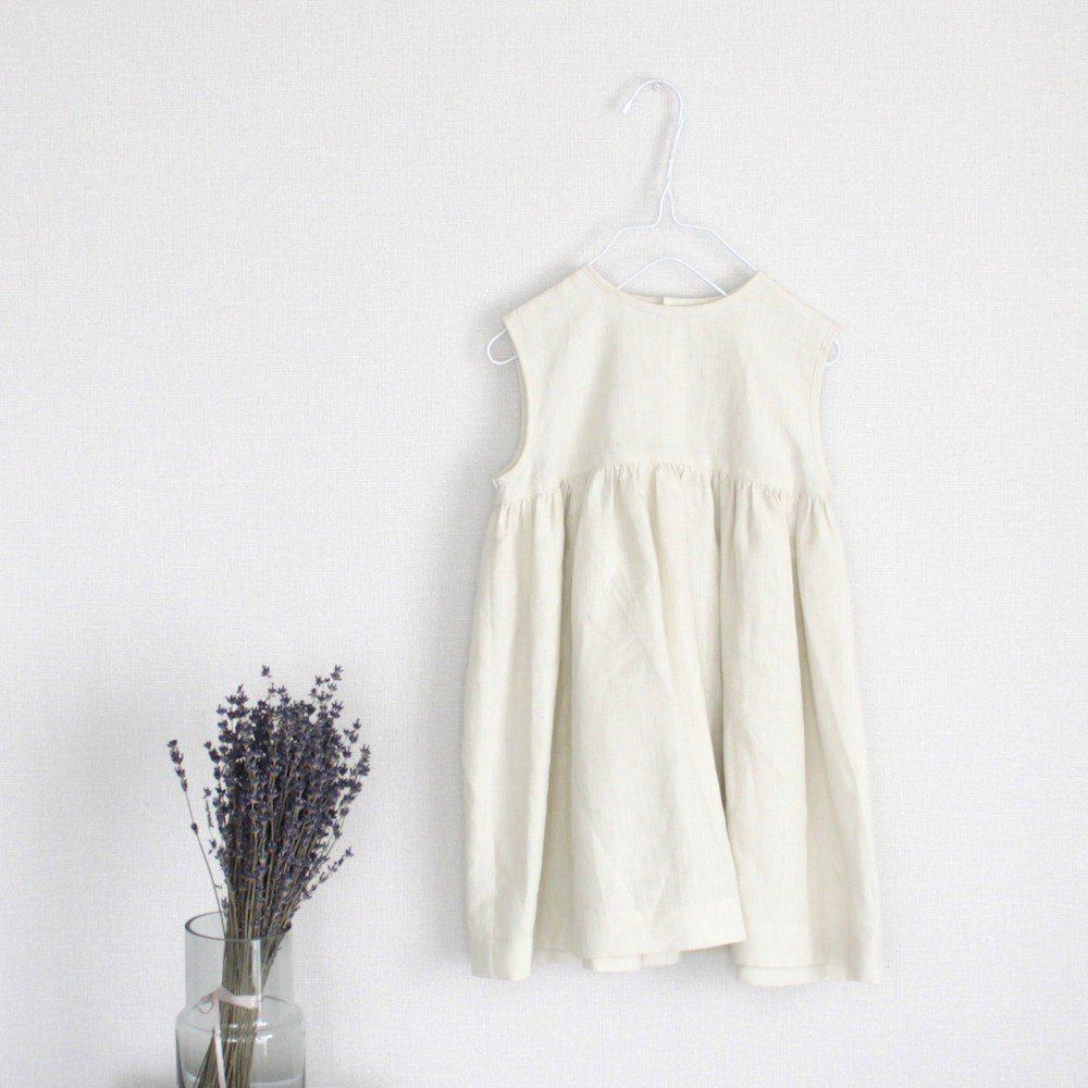 【SAMPLE】Linen sleeveless dress