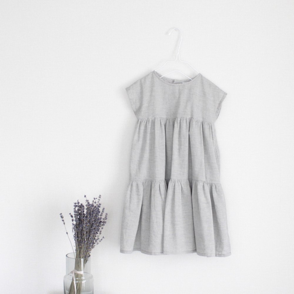 【SAMPLE】French sleeve tiered dress