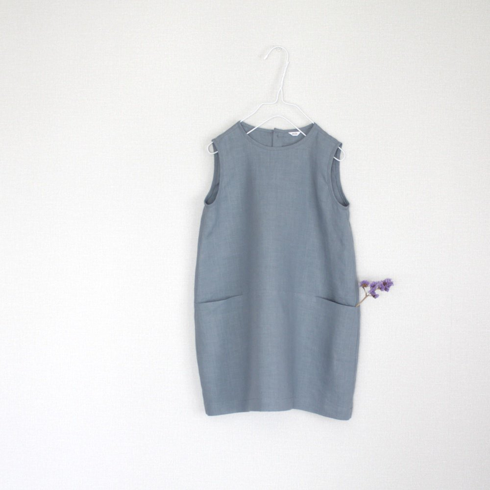 Linen cocoon dress