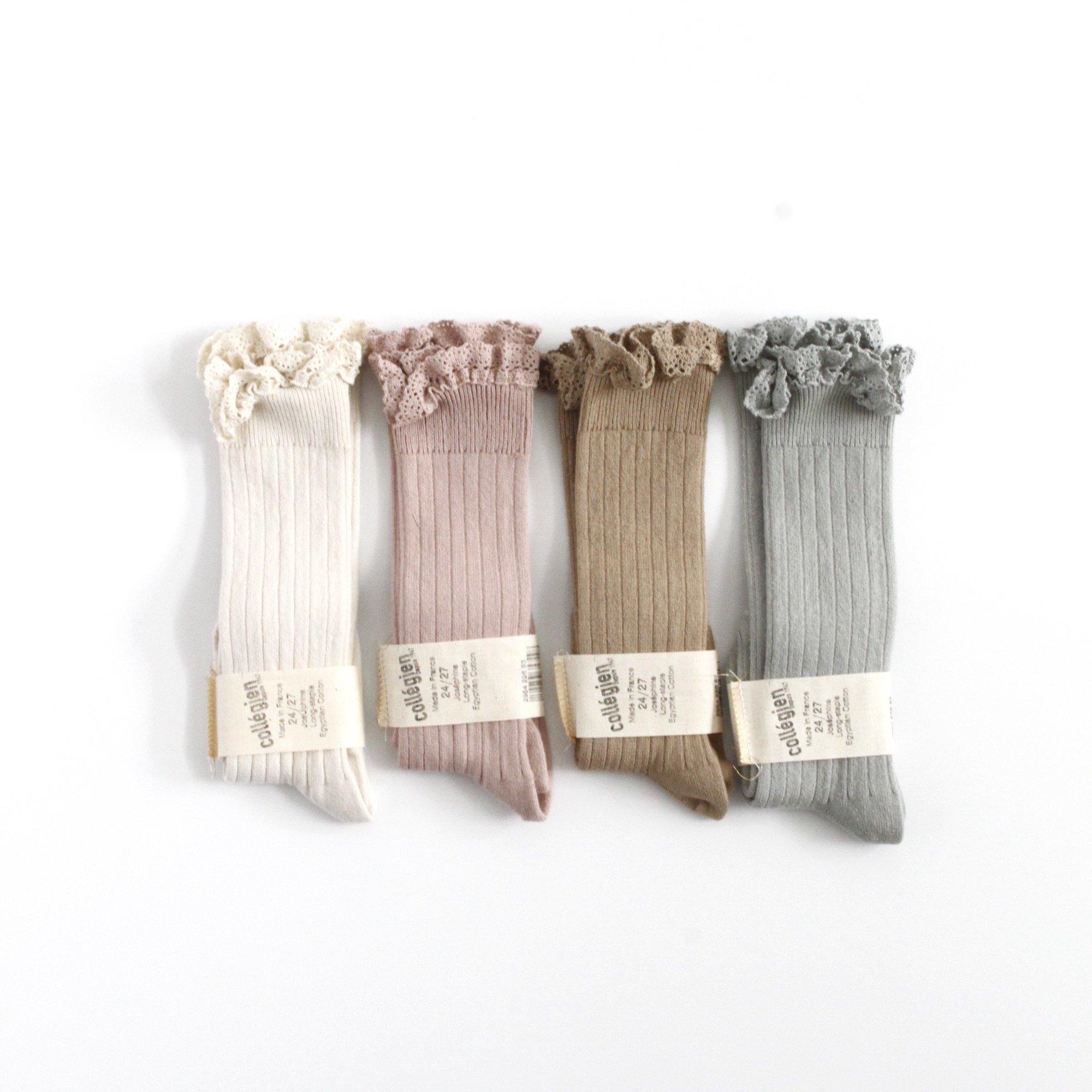 collegien Lace Trim Kneehigh Socks