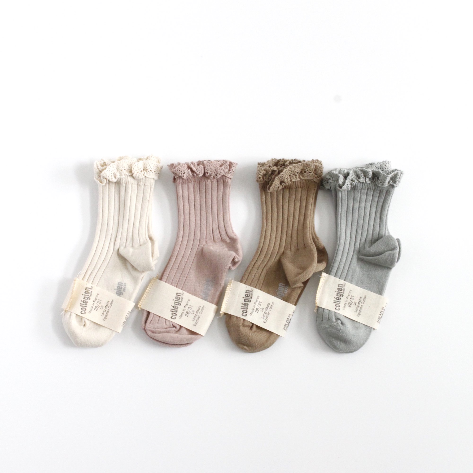 collegien Lace Trim Ankle Socks