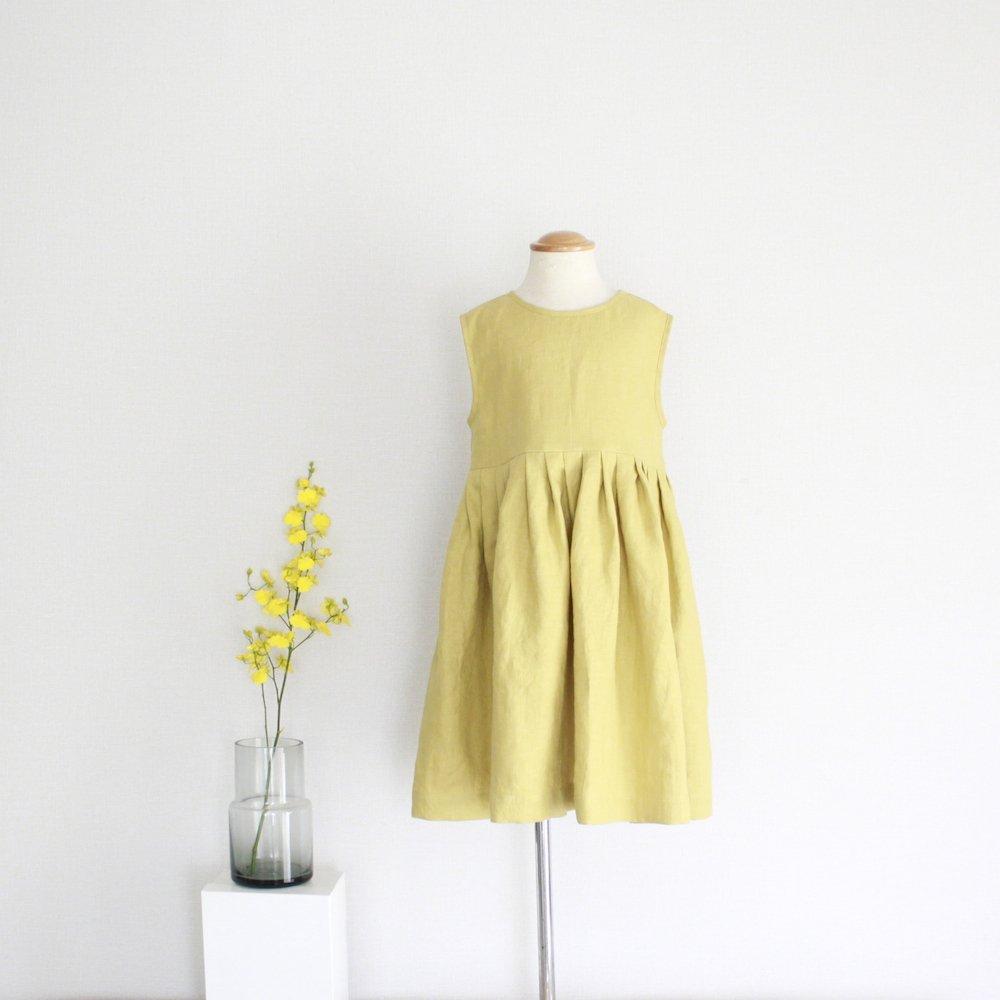 Linen tuck dress