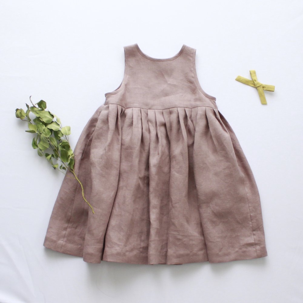 Linen tuck dress (morve)