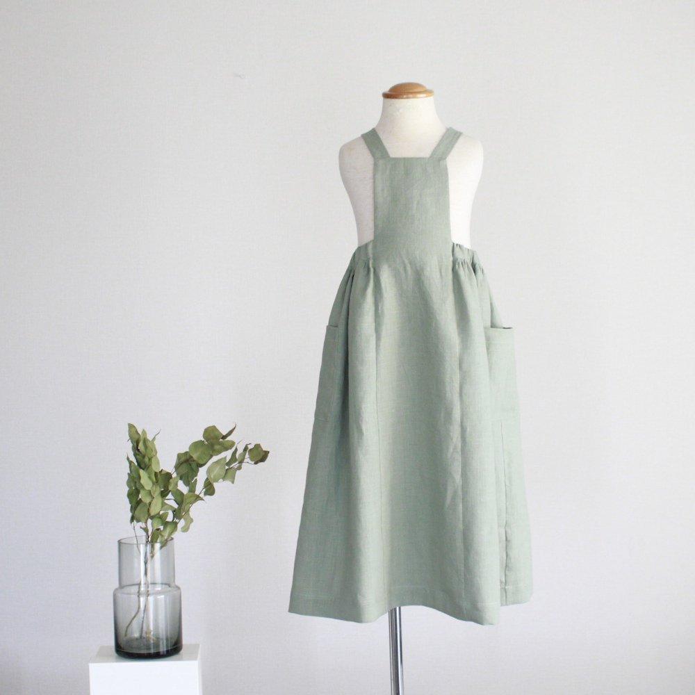 Linen apron skirt