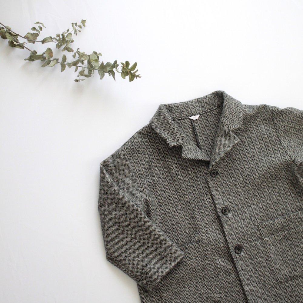 Wool herringbone chester coat