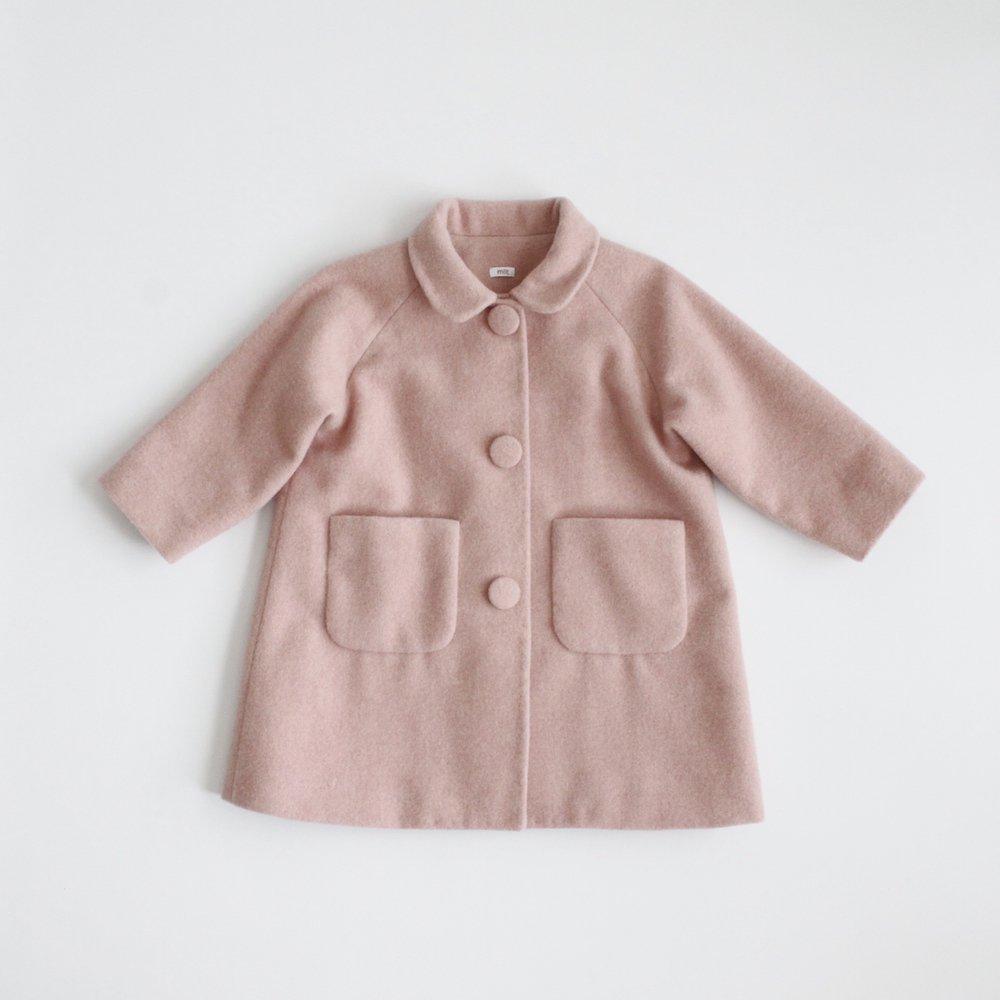 Round collar coat