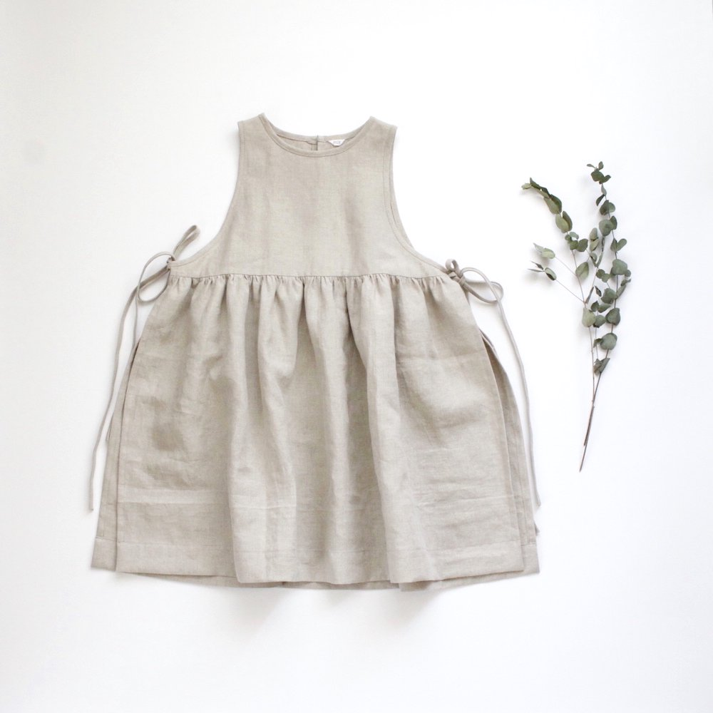 <img class='new_mark_img1' src='https://img.shop-pro.jp/img/new/icons14.gif' style='border:none;display:inline;margin:0px;padding:0px;width:auto;' />Side ribbon dress -linen-