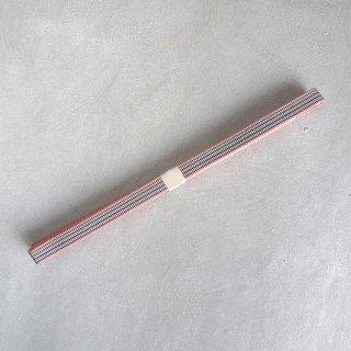 三分紐(真田紐) ピンク耳空色紅筋