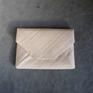 H.P.E.谷由起子 ラオスの布  数寄屋袋  白