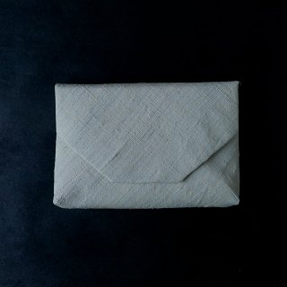 H.P.E.谷由起子 ラオスの布  数寄屋袋  極薄藍
