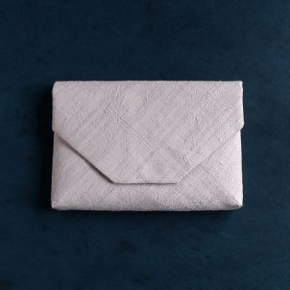 H.P.E.谷由起子 ラオスの布  数寄屋袋  極薄ピンク