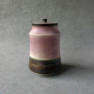 小関康子 「ピンク象嵌蓋物」45_1