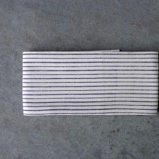 インド カディコットン [横縞]  半幅帯