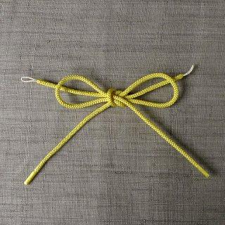 れん 羽織紐 黄色×白