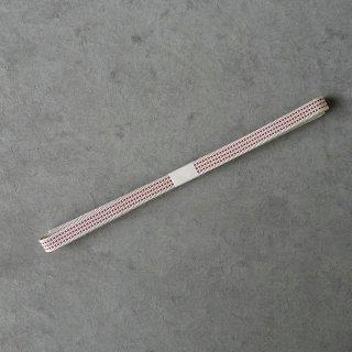 三分紐(真田紐) 白に赤飛び柄