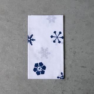 あひろ屋 手ぬぐい 六花(rikka) 紺色