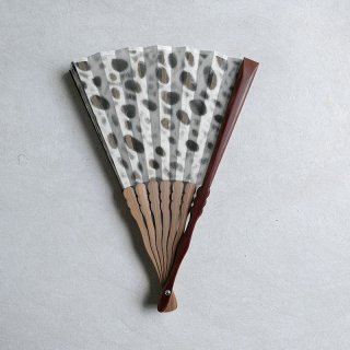 森田千晶 絹と和紙の扇子 7寸 楕円繋ぎ