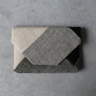 maki textile studio(インド手織り布)数寄屋袋 モノトーン
