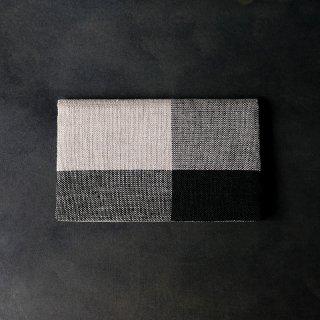 maki textile studio(インド手織り布)懐紙入れ モノトーン
