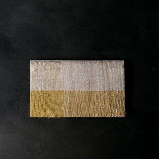 maki textile studio(インド手織り布)懐紙入れ 黄色