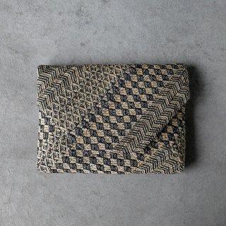 maki textile studio(インド手織り布)数寄屋袋 菱