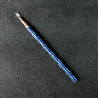 設楽享良 陶軸筆 瑠璃六角