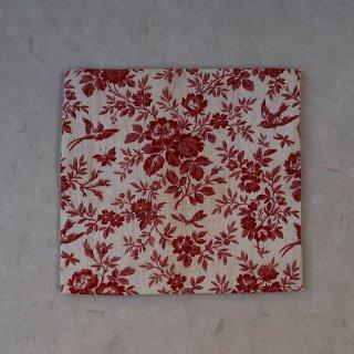 古袱紗 ヨーロッパ更紗 赤小花