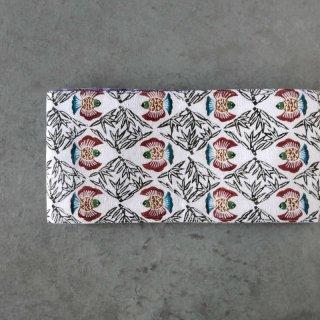 三橋工房 半幅帯「ふくら雀×折鶴柄」