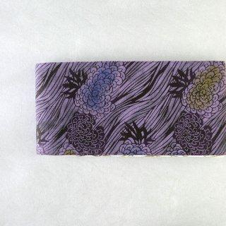 三橋工房 半幅帯「菊に流水×松葉柄」