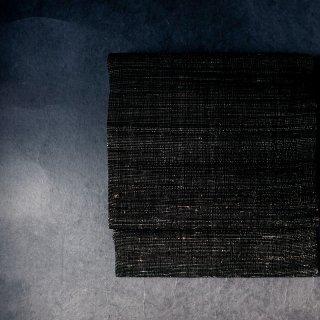 maki textile studio(インド手織り布)名古屋帯 仕立て上がり 黒