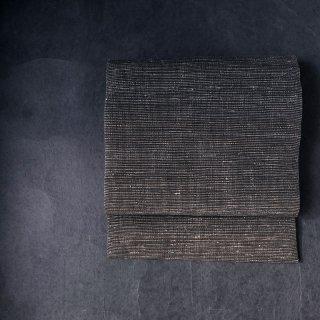 maki textile studio(インド手織り布)名古屋帯 仕立て上がり 茶